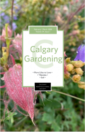 February March 2020 Calgary Gardening magazine Cover
