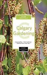 April 2020 Calgary Gardening magazine Cover