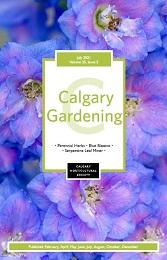 2021 July cover Calgary Gardening Magazine;