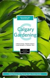2021 February/March Calgary Gardening magazine cover